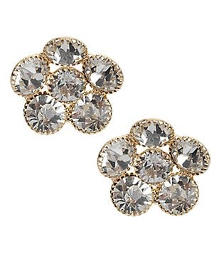 Natasha Accessories Crystal Flower Stud Earrings