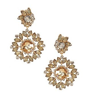 Natasha Accessories Flower Statement Drop Earrings