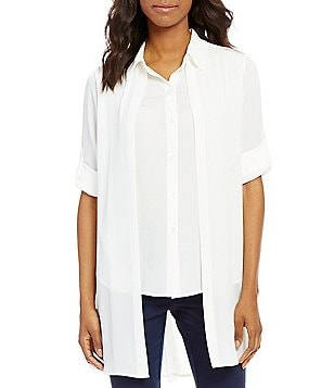 Calvin Klein Roll-Tab Sleeve Double Layer Shirt