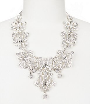 Natasha Accessories Crystal Drop Statement Necklace