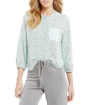 Nottibianche TEMPtations Speckled Mixed-Media Sleep Top