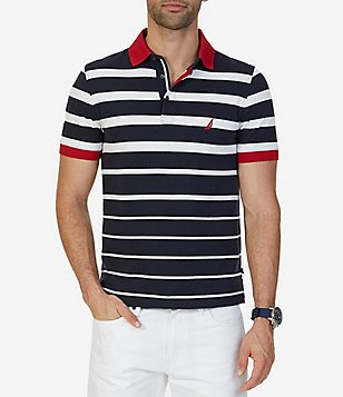 Nautica Big & Tall Classic-Fit Striped Short-Sleeve Polo Shirt