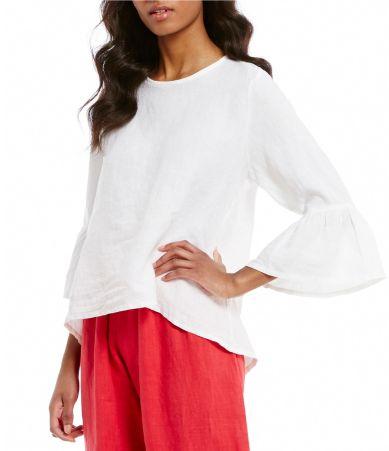 Bryn Walker Fran Bell Sleeve Light Linen Shirt
