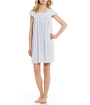 Miss Elaine Rose Bud Silky Knit Nightgown