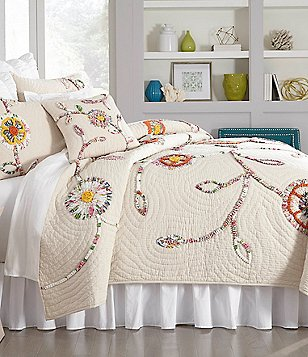 Studio D Bronwyn Floral-Appliquéd Cotton & Linen Quilt Mini Set
