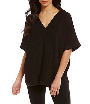 N by Natori Brushed Terry Caftan Lounge Top