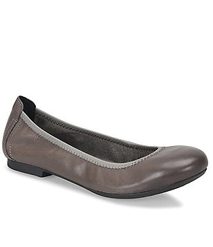 Born Julianne Leather Slip-On Suede Lined Ballet Flats