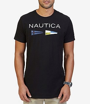 Nautica Big & Tall Nautica Flags Short-Sleeve Graphic Tee