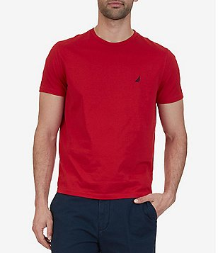 Nautica Big & Tall Solid Crewneck Short-Sleeve Tee