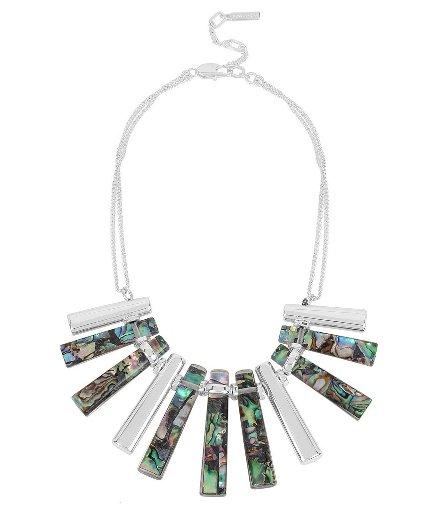 Kenneth Cole New York Geometric Abalone Stick Collar Necklace