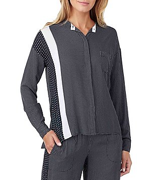 DKNY Geometric Dot Jersey Sleep Top