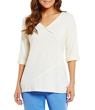 iRelax Slub Jersey Wrap Lounge Top
