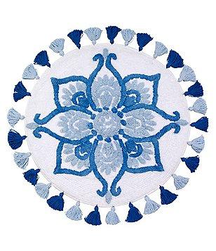Avanti Linens Portico Tasseled Floral Medallion Rug
