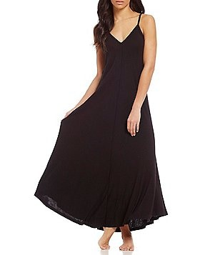iRelax Slub Jersey Maxi Nightgown