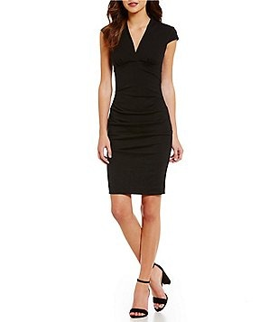 Nicole Miller Collection Hadley Ponte Bodycon Dress