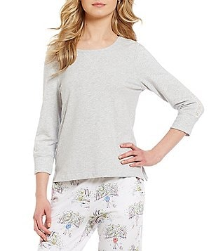 Jane & Bleecker French Terry & Lace Sleep Top