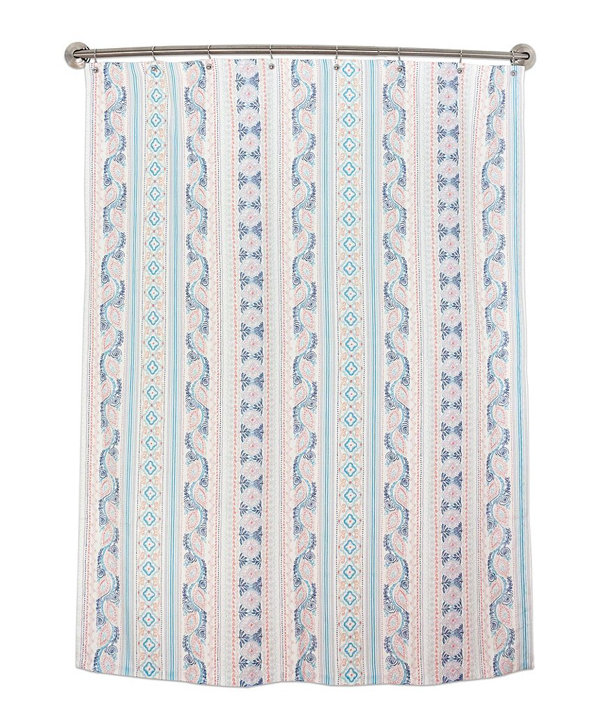 dena home lilly medallion striped shower curtain dillards