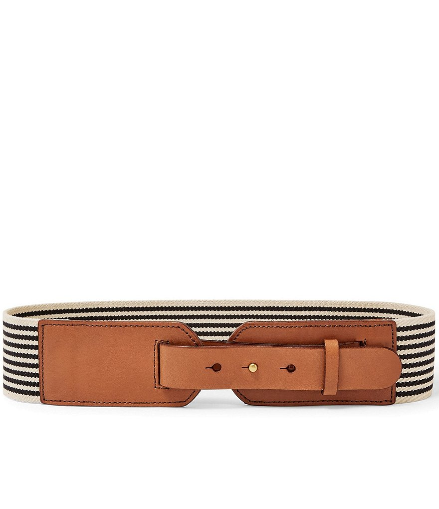 Fossil Striped Stretch Waist Belt
