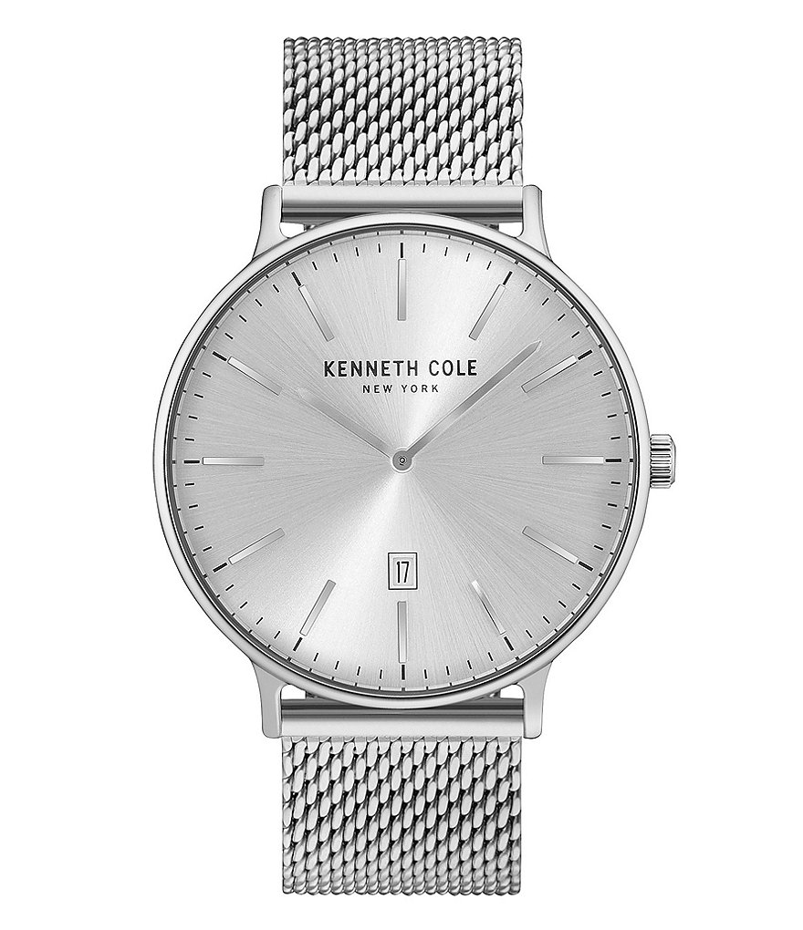 Kenneth Cole New York Classic Analog & Date Mesh Bracelet Watch