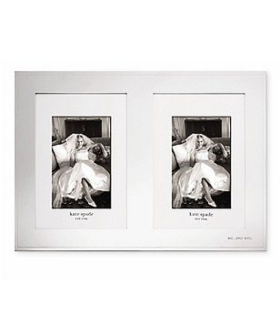 kate spade new york darling point double wedding invitationphoto frame