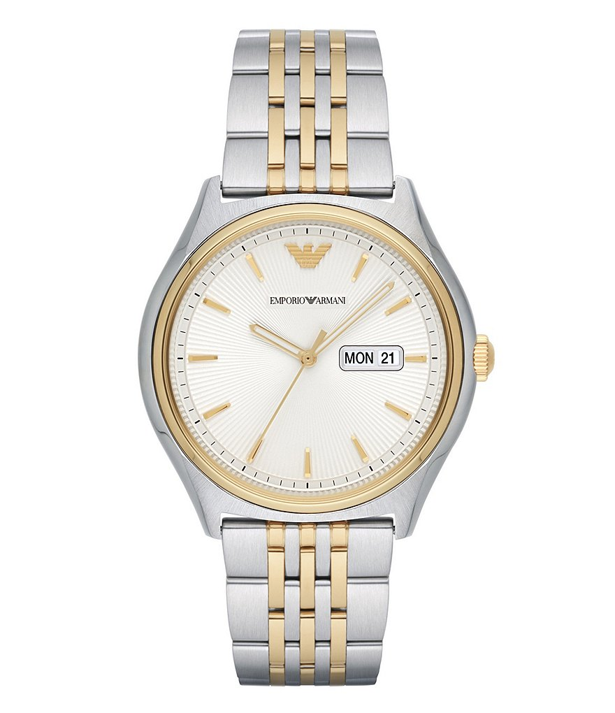 Emporio Armani Analog, Day & Date Bracelet Watch