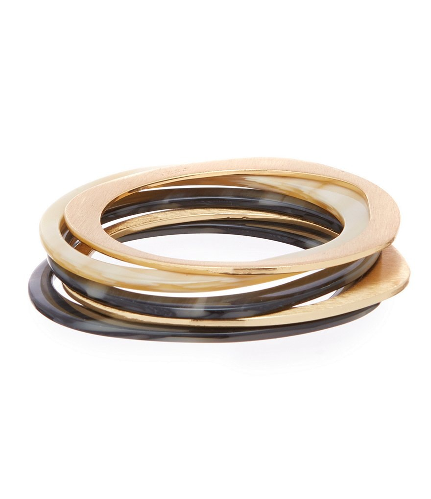 Trina Turk Havana Club Bangle Bracelet Set