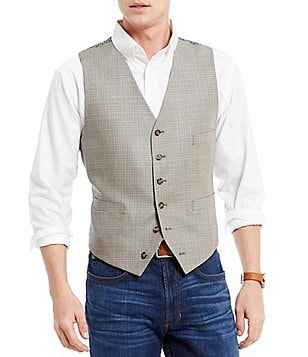 Cremieux Sonoran Trails Edward Plaid Linen Vest