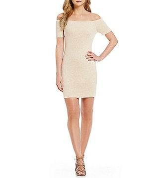 Lovers + Friends Diamond Off-the-Shoulder Bodycon Dress