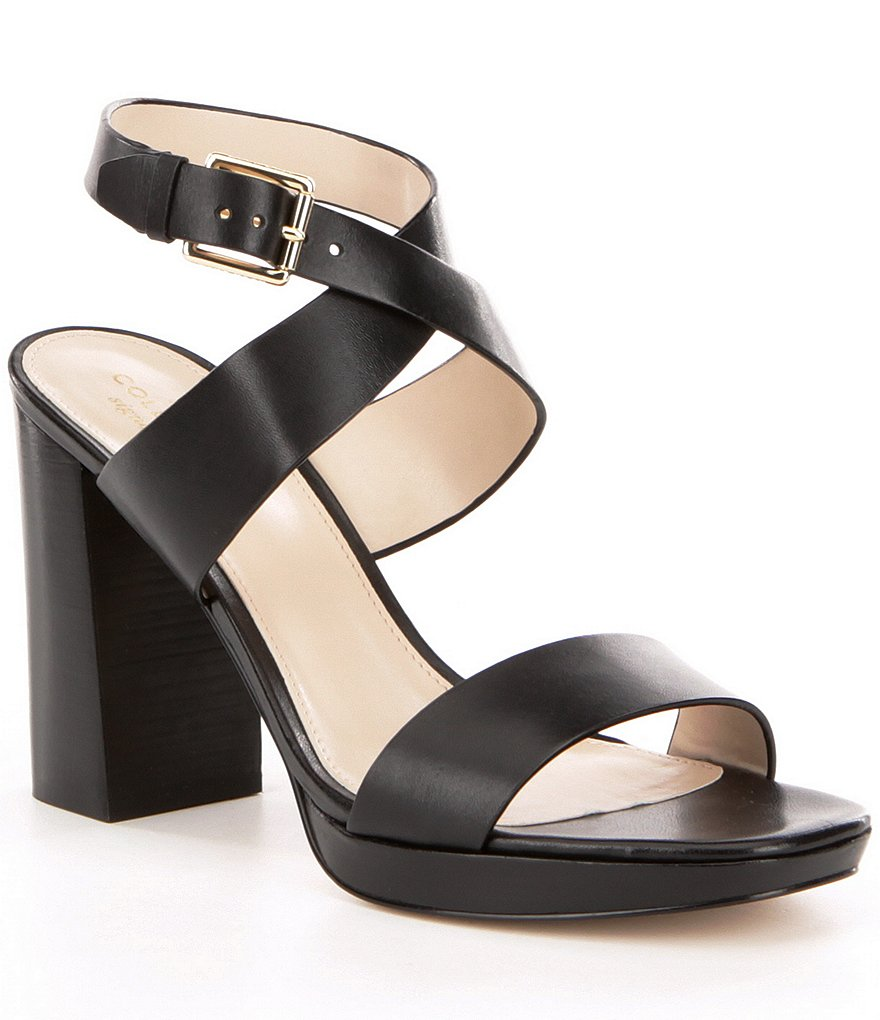Cole Haan Fenley High Platform Leather Sandals