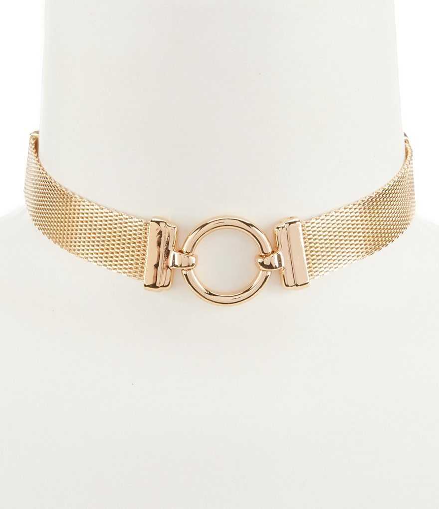 Anne Klein Mesh Choker Necklace