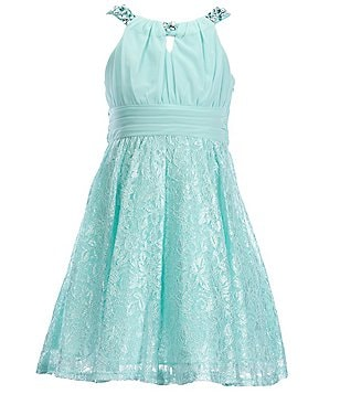 Tween Diva Big Girls 7-16 Lace Jewel-Embellished Dress