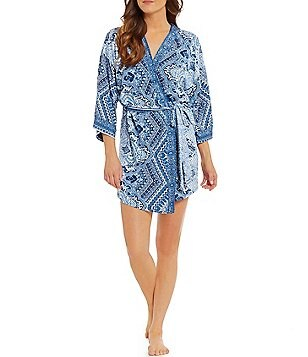 In Bloom by Jonquil Moonrise Paisley Wrap Robe