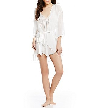In Bloom by Jonquil Chiffon & Satin Wrap Robe