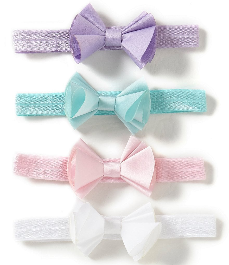 Starting Out Baby Girls 4-Pack Bow Tie Headbands