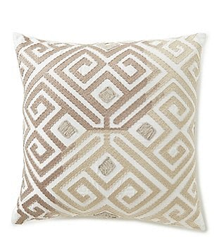 Southern Living Geometric-Embroidered Oversized Square Pillow