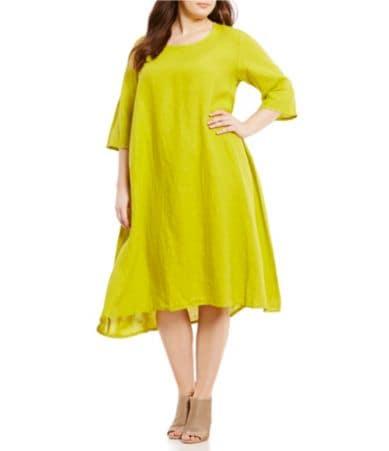 Bryn Walker Plus Winslow Light Linen Dress