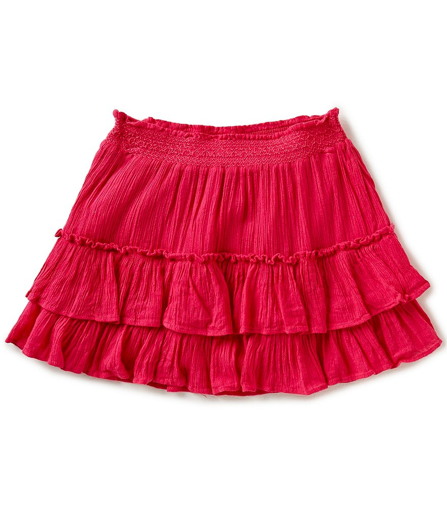 Ralph Lauren Childrenswear Big Girls 7-16 Tiered Ruffled Skirt | Dillards