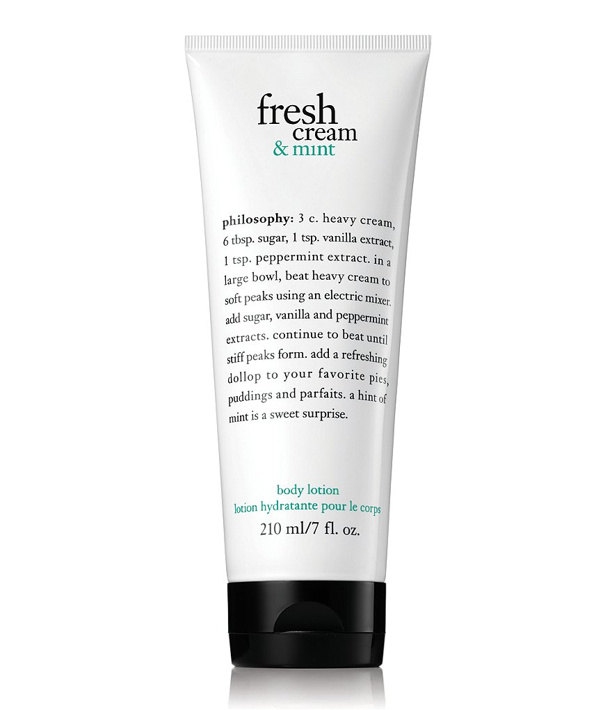 philosophy fresh cream & mint body lotion