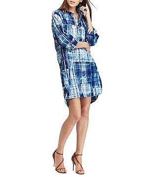 Polo Ralph Lauren Cotton Madras Shirt Dress
