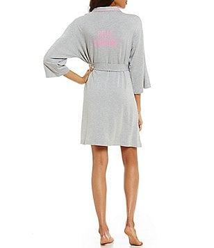 kate spade new york Hello Sunshine French Terry Wrap Robe