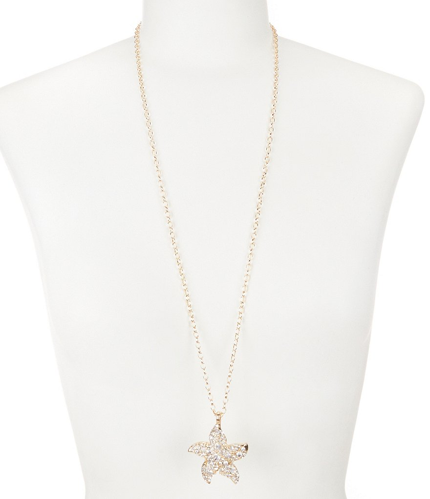 Dillard´s Tailored Pavé Starfish Pendant Necklace