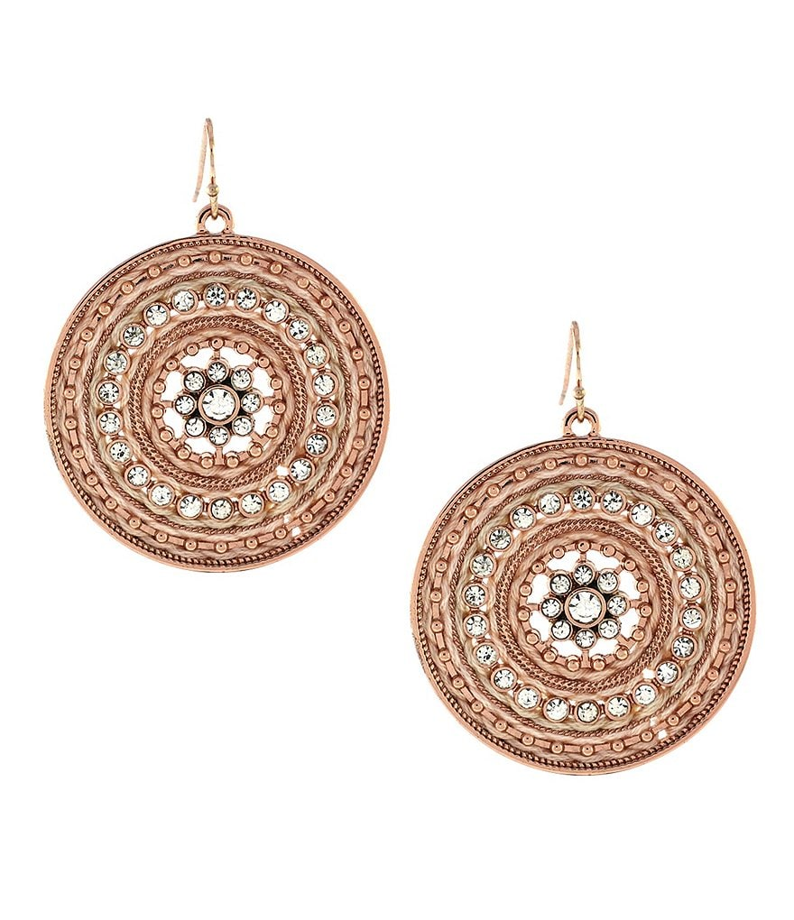 Jessica Simpson Disc Drop Earrings