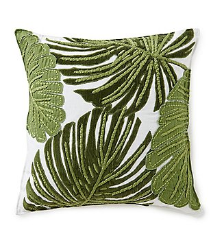 Southern Living Velvet Leaf Square Pillow