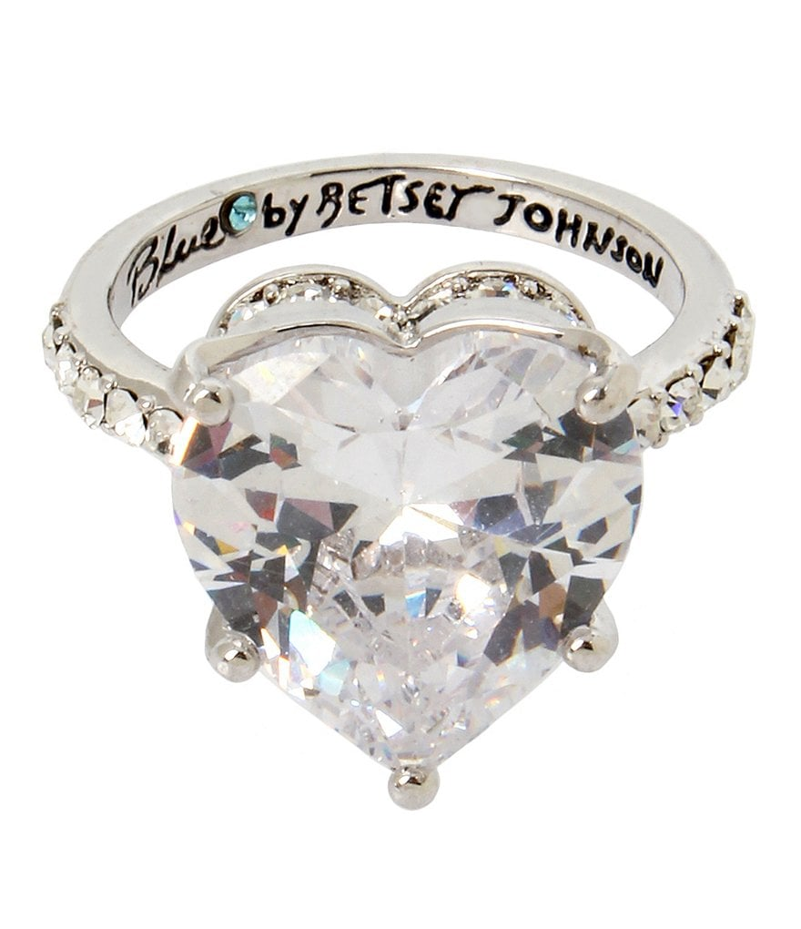 Blue by Betsey Johnson Cubic Zirconia Heart Ring
