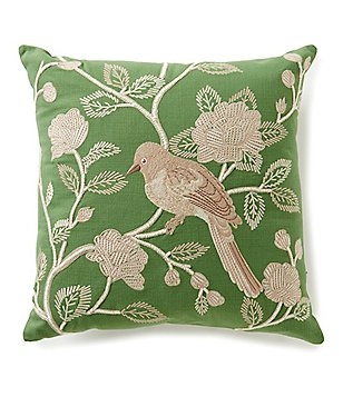 Villa by Noble Excellence Olivia Embroidered Square Pillow