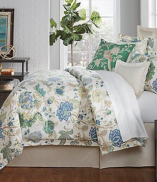 Villa by Noble Excellence Olivia Floral Cotton & Linen Comforter Mini Set