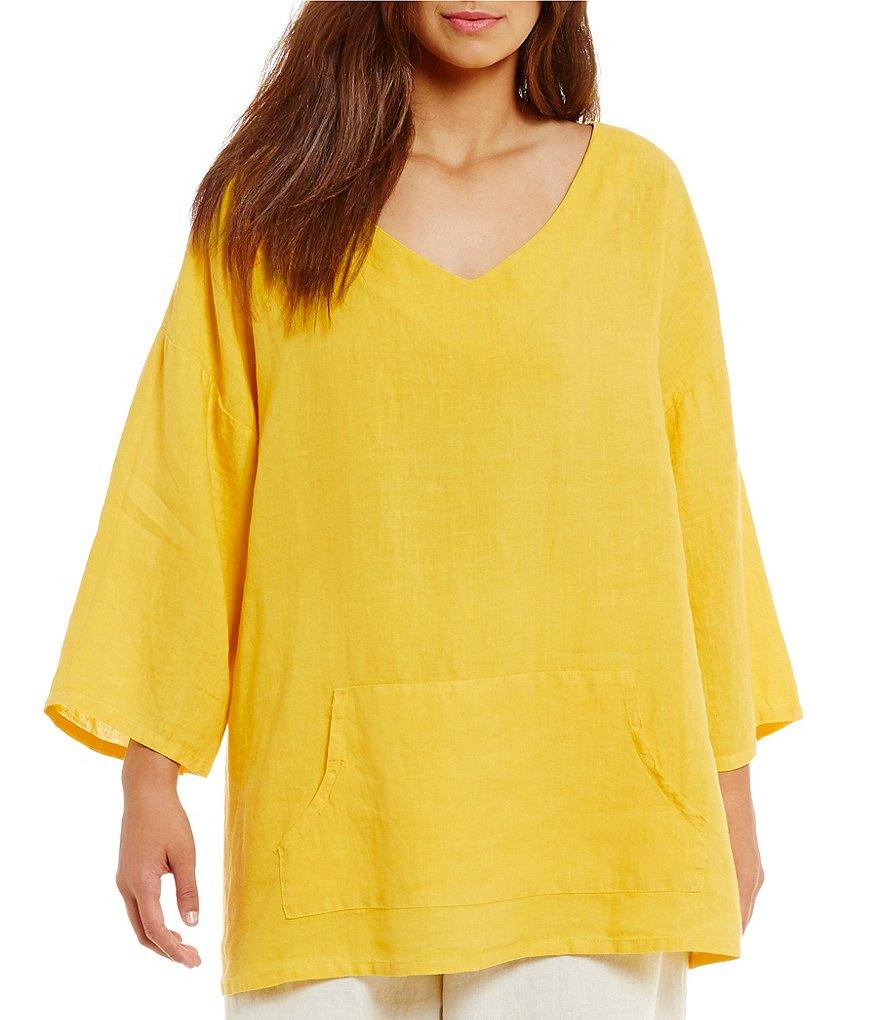 Bryn Walker Plus Light Linen Judy Shirt