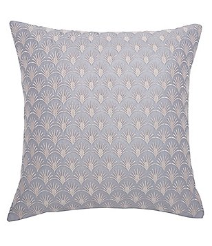Ted Baker London Art Deco Fan-Embroidered Square Pillow