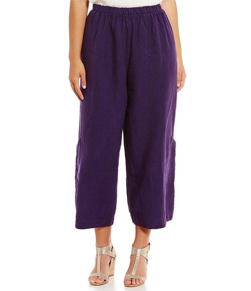 Bryn Walker Plus Light Linen Casbah Pants