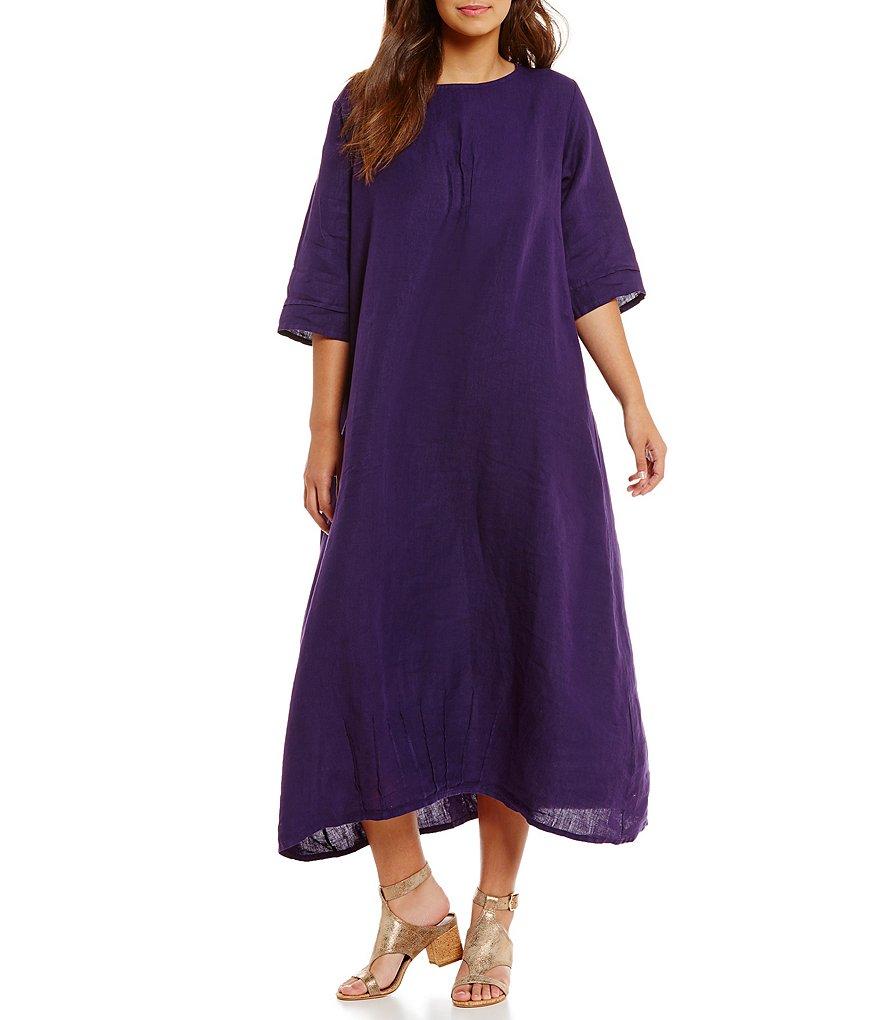 Bryn Walker Plus Light Linen Pintuck Dress